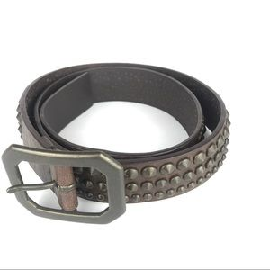 Nine West Leather Belt Studded Brown 182.243